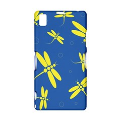 Blue and yellow dragonflies pattern Sony Xperia Z1