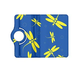 Blue and yellow dragonflies pattern Kindle Fire HD (2013) Flip 360 Case