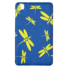 Blue and yellow dragonflies pattern Samsung Galaxy Tab Pro 8.4 Hardshell Case