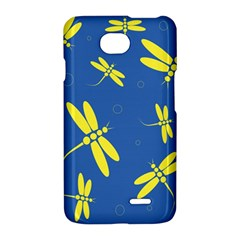 Blue and yellow dragonflies pattern LG Optimus L70