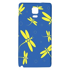 Blue and yellow dragonflies pattern Galaxy Note 4 Back Case