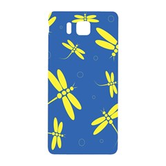 Blue and yellow dragonflies pattern Samsung Galaxy Alpha Hardshell Back Case