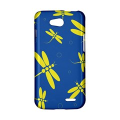 Blue and yellow dragonflies pattern LG L90 D410