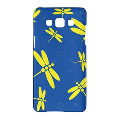 Blue and yellow dragonflies pattern Samsung Galaxy A5 Hardshell Case