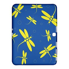 Blue and yellow dragonflies pattern Samsung Galaxy Tab 4 (10.1 ) Hardshell Case