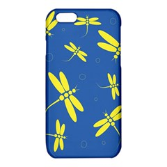 Blue and yellow dragonflies pattern iPhone 6/6S TPU Case