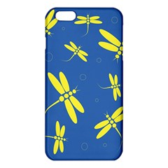 Blue and yellow dragonflies pattern iPhone 6 Plus/6S Plus TPU Case