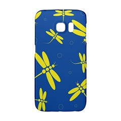 Blue and yellow dragonflies pattern Galaxy S6 Edge