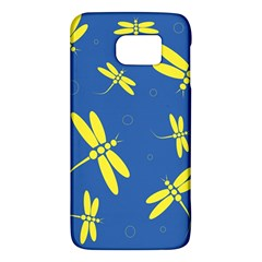 Blue and yellow dragonflies pattern Galaxy S6