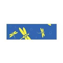 Blue and yellow dragonflies pattern Satin Scarf (Oblong)