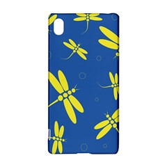Blue and yellow dragonflies pattern Sony Xperia Z3+