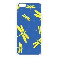 Blue and yellow dragonflies pattern Apple Seamless iPhone 6 Plus/6S Plus Case (Transparent)