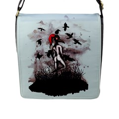 Dancing With Crows Flap Messenger Bag (L)