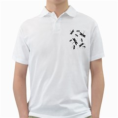 Black and white dragonflies Golf Shirts