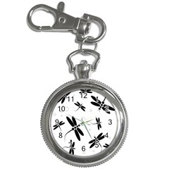 Black and white dragonflies Key Chain Watches