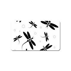 Black and white dragonflies Magnet (Name Card)