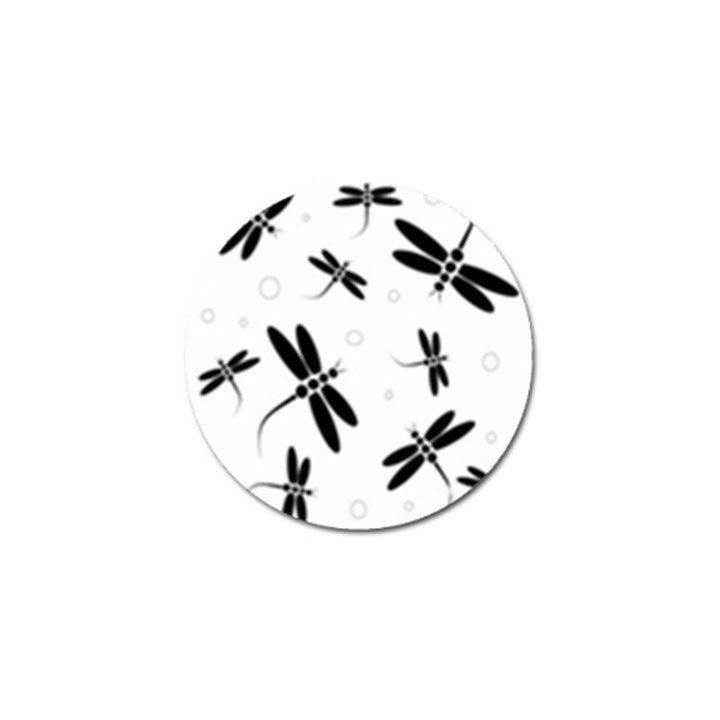 Black and white dragonflies Golf Ball Marker (10 pack)