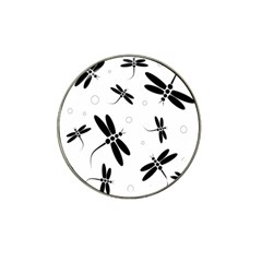 Black and white dragonflies Hat Clip Ball Marker (10 pack)