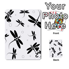 Black and white dragonflies Playing Cards 54 Designs