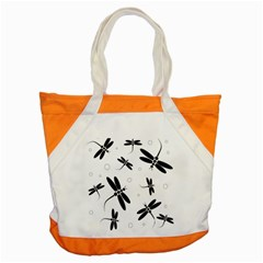Black and white dragonflies Accent Tote Bag