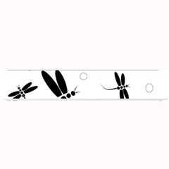 Black and white dragonflies Small Bar Mats