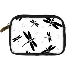 Black and white dragonflies Digital Camera Cases