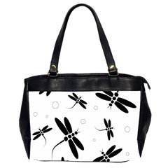 Black and white dragonflies Office Handbags (2 Sides)
