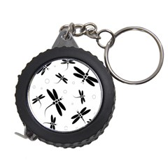 Black and white dragonflies Measuring Tapes