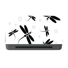 Black and white dragonflies Memory Card Reader with CF