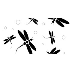 Black and white dragonflies YOU ARE INVITED 3D Greeting Card (8x4)