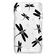 Black and white dragonflies Samsung Galaxy S i9008 Hardshell Case