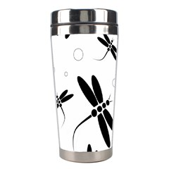 Black and white dragonflies Stainless Steel Travel Tumblers