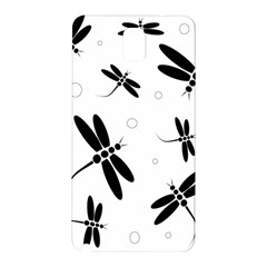 Black and white dragonflies Samsung Galaxy Note 3 N9005 Hardshell Back Case