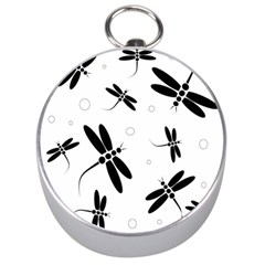 Black and white dragonflies Silver Compasses