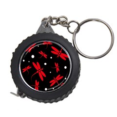 Red, black and white dragonflies Measuring Tapes