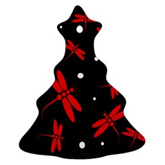 Red, black and white dragonflies Ornament (Christmas Tree)