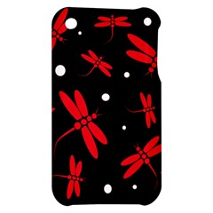 Red, black and white dragonflies Apple iPhone 3G/3GS Hardshell Case