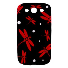Red, black and white dragonflies Samsung Galaxy S III Hardshell Case
