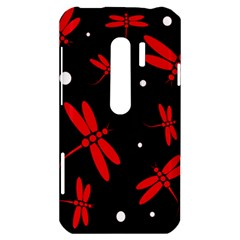 Red, black and white dragonflies HTC Evo 3D Hardshell Case