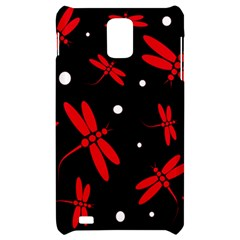 Red, black and white dragonflies Samsung Infuse 4G Hardshell Case