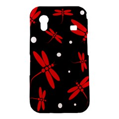 Red, black and white dragonflies Samsung Galaxy Ace S5830 Hardshell Case