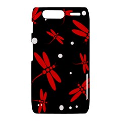Red, black and white dragonflies Motorola Droid Razr XT912