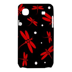 Red, black and white dragonflies Samsung Galaxy SL i9003 Hardshell Case