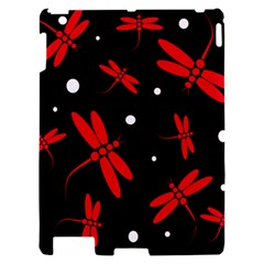 Red, black and white dragonflies Apple iPad 2 Hardshell Case