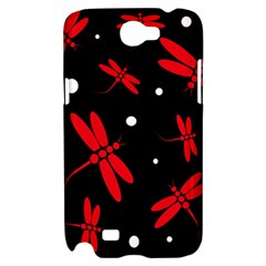 Red, black and white dragonflies Samsung Galaxy Note 2 Hardshell Case