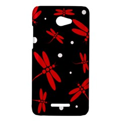 Red, black and white dragonflies HTC Butterfly X920E Hardshell Case