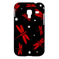 Red, black and white dragonflies Samsung Galaxy Ace Plus S7500 Hardshell Case