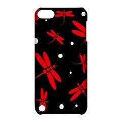 Red, black and white dragonflies Apple iPod Touch 5 Hardshell Case with Stand