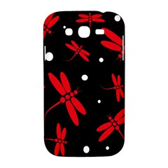 Red, black and white dragonflies Samsung Galaxy Grand DUOS I9082 Hardshell Case