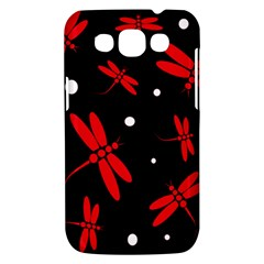 Red, black and white dragonflies Samsung Galaxy Win I8550 Hardshell Case